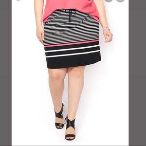 NWT Pennington's Striped Skirt